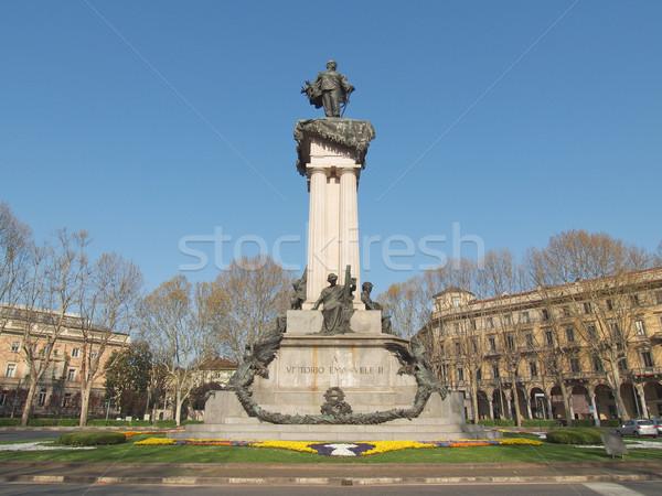 Vittorio Emanuele II statue Stock photo © claudiodivizia