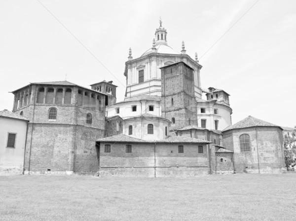 教会 ミラノ バシリカ イタリア 町 大聖堂 ストックフォト © claudiodivizia