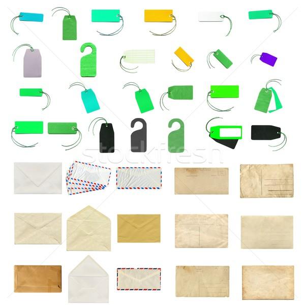 Materiały biurowe kolaż działalności papieru Zdjęcia stock © claudiodivizia