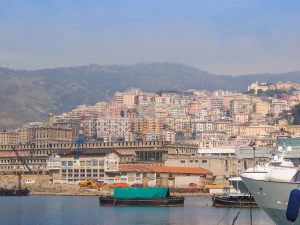 Vue Italie mer ville eau océan Photo stock © claudiodivizia