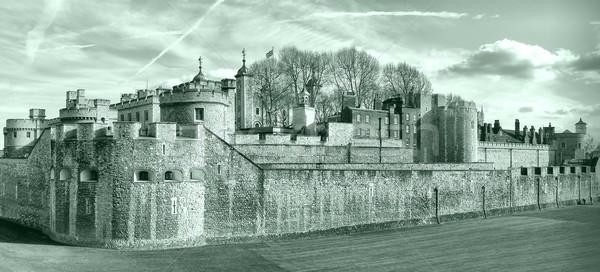 Torony London középkori kastély börtön magas Stock fotó © claudiodivizia