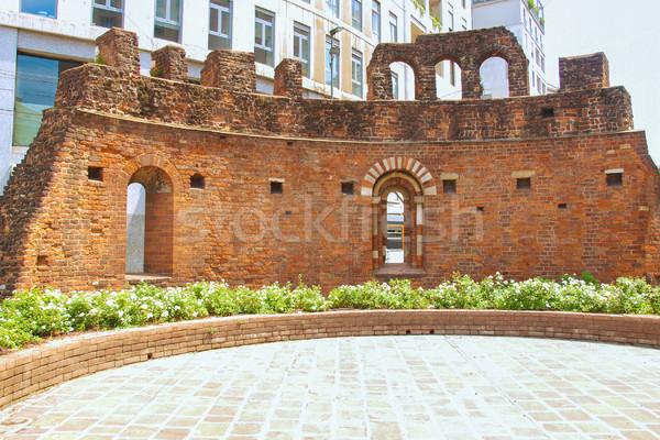 St Giovanni in Conca ruins, Milan Stock photo © claudiodivizia