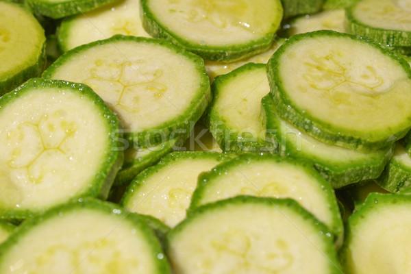 Courgettes détail légumes alimentaire légumes manger Photo stock © claudiodivizia