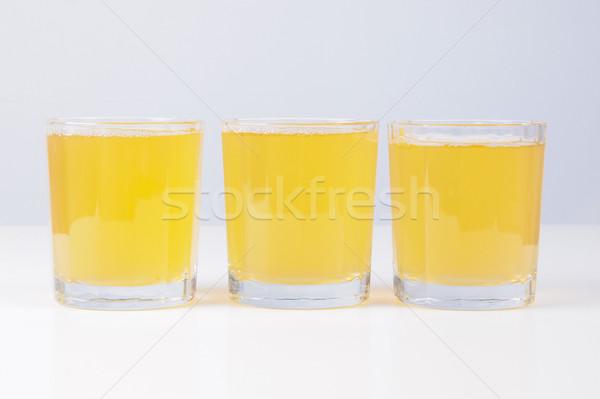 Stockfoto: Ananas · sap · bril · continentaal · ontbijt · tabel · vruchten