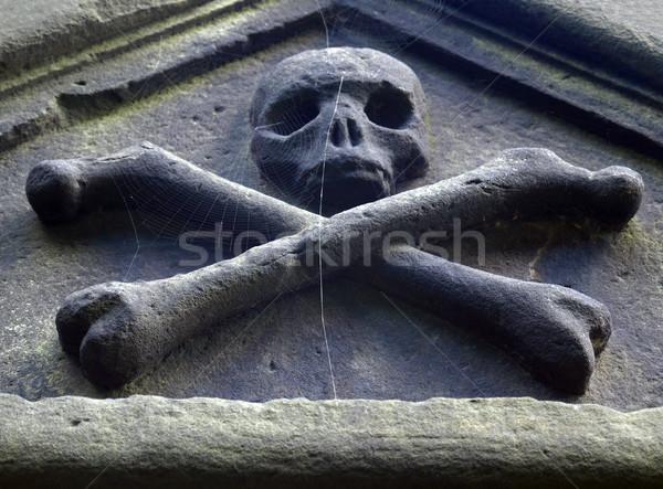 Goth kafatası kemikleri Gotik web kilise Stok fotoğraf © claudiodivizia