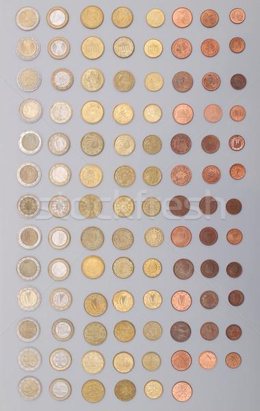 Foto stock: Euro · moeda · países · europeu · união