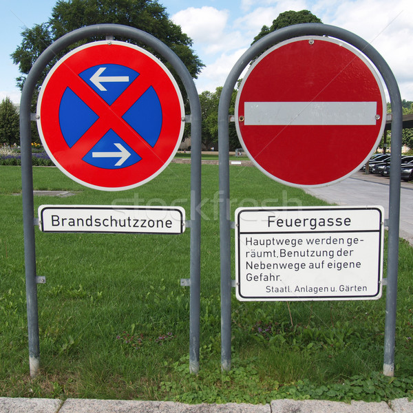 No parking sign Stock photo © claudiodivizia