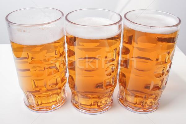 Alman birası bira çok büyük gözlük Stok fotoğraf © claudiodivizia