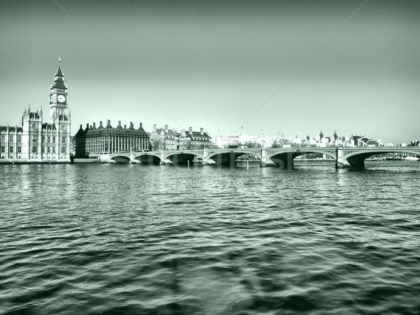 Westminster köprü panorama görmek Londra yüksek Stok fotoğraf © claudiodivizia