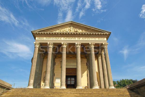Kerk la Italië Blauw klassiek Stockfoto © claudiodivizia