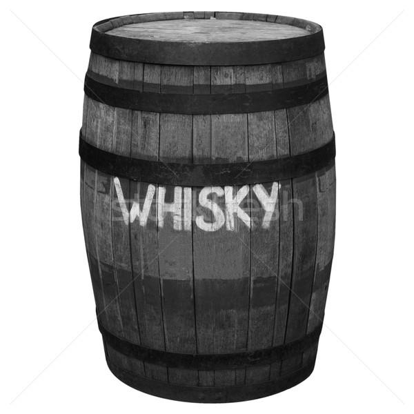 Hordó hordó öreg fából készült whisky sör Stock fotó © claudiodivizia