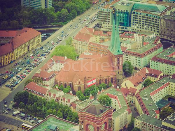 Retro look Berlin Germany Stock photo © claudiodivizia