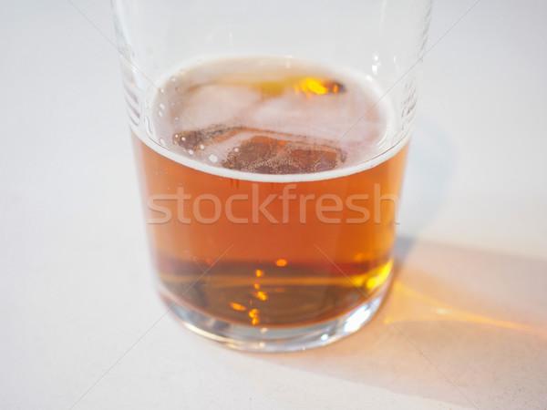 Ale bière pinte britannique pub table Photo stock © claudiodivizia