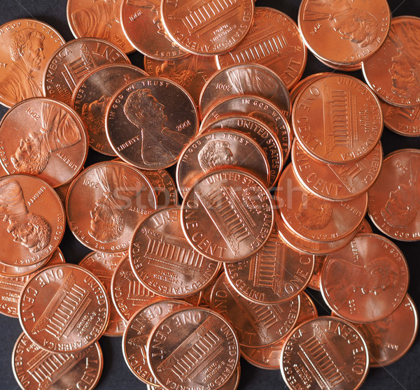 Dollár érmék cent búza penny egy Stock fotó © claudiodivizia