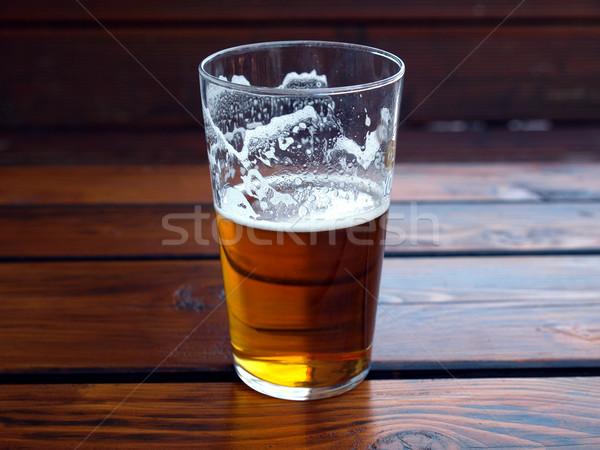 Cerveja grande vidro quartilho líquido Foto stock © claudiodivizia