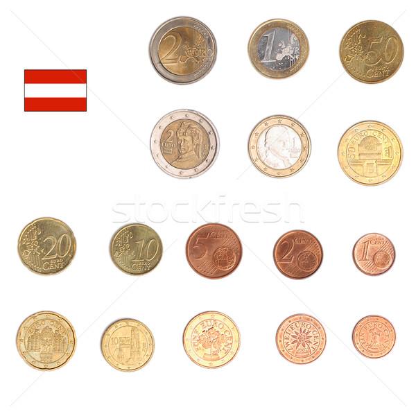 Stock fotó: Euro · érme · Ausztria · érmék · mindkettő · nemzetközi