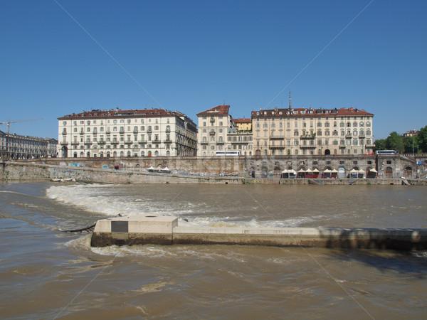 Сток-фото: квадратный · Италия · реке · ретро · Vintage