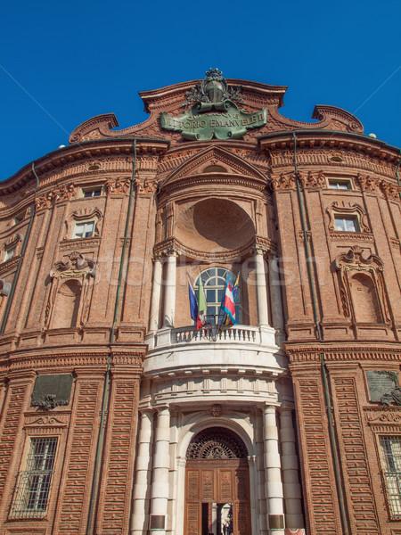 Palazzo Carignano Turin Stock photo © claudiodivizia