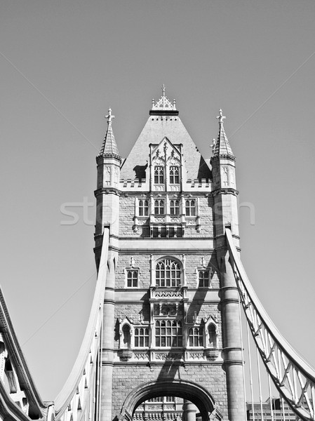 Tower Bridge Londres rio água ponte Foto stock © claudiodivizia