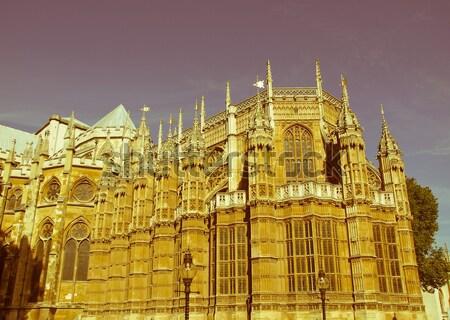 Retro looking Canterbury Cathedral Stock photo © claudiodivizia