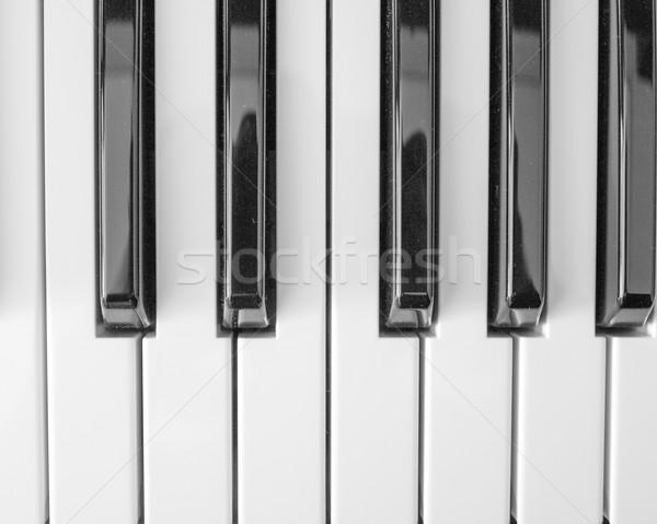 Música teclado claves cámara digital clave negro Foto stock © claudiodivizia