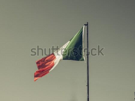 Retro look Italian flag Stock photo © claudiodivizia