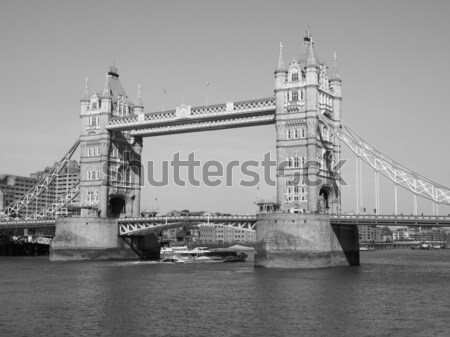Сток-фото: Тауэрский · мост · Лондон · реке · Темза · город · архитектура