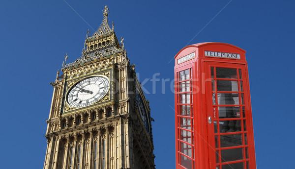 Big Ben Londres britannique symboles rouge téléphone Photo stock © claudiodivizia