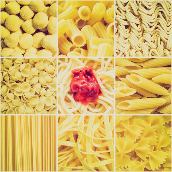 Retro look Pasta collage Stock photo © claudiodivizia