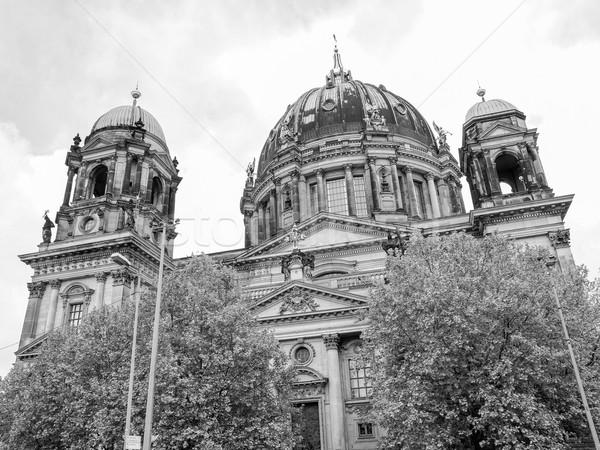 Cathédrale église Berlin Allemagne blanc noir blanche Photo stock © claudiodivizia