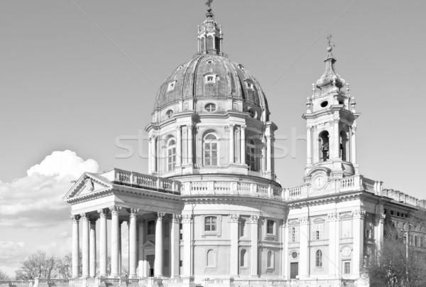 Bazilika Torino templom domb Olaszország építkezés Stock fotó © claudiodivizia