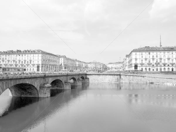 Torino tér Olaszország magas dinamikus terjedelem Stock fotó © claudiodivizia