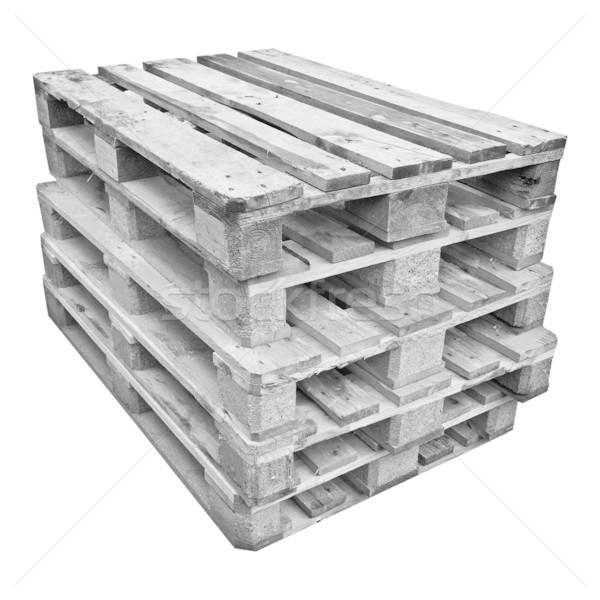 Pile of pallets Stock photo © claudiodivizia