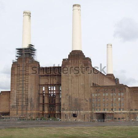 Лондон электростанция Англии промышленных ретро архитектура Сток-фото © claudiodivizia