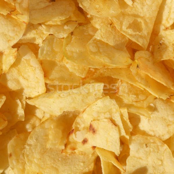 Stockfoto: Chips · detail · snack · voedsel · maaltijd · dieet