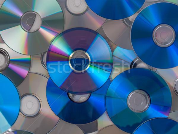 Cd disco ótico música vídeo armazenamento de dados Foto stock © claudiodivizia