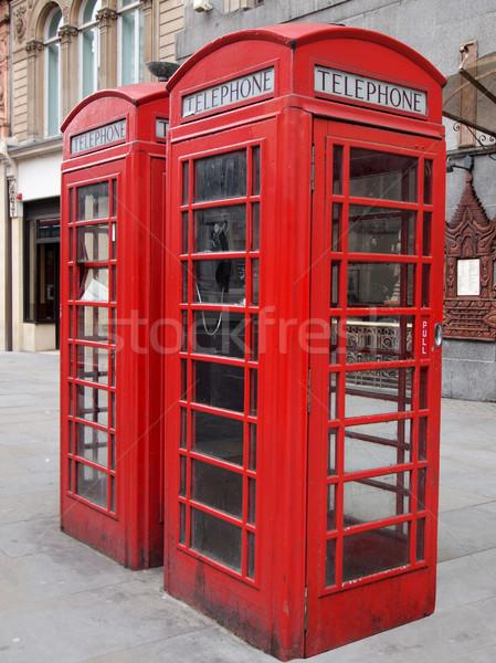 Stock photo: London telephone box