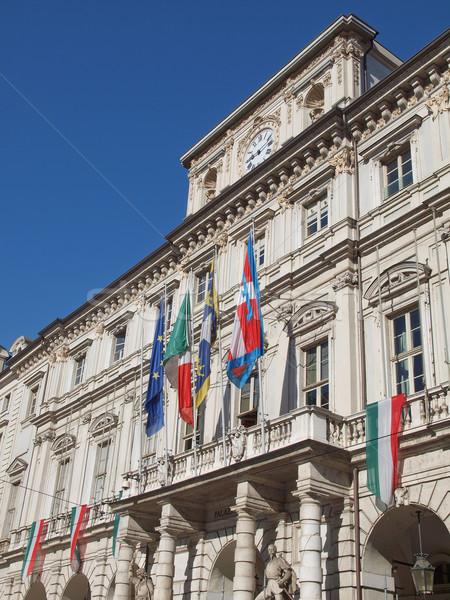 Palazzo di Citta, Turin Stock photo © claudiodivizia