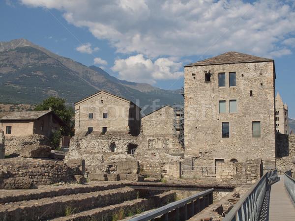 Roma tiyatro ören dağ dağlar Retro Stok fotoğraf © claudiodivizia