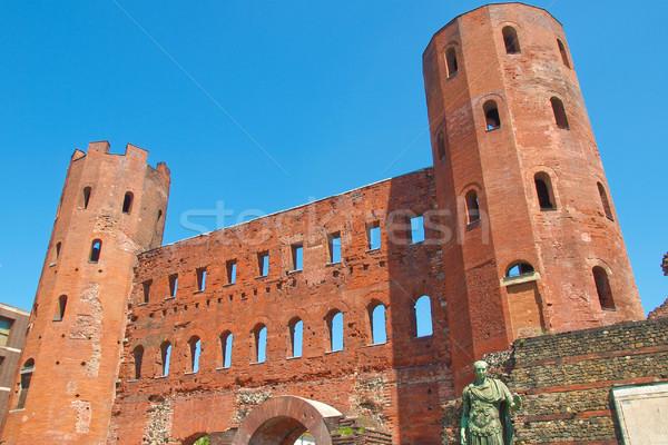 Antigua romana ciudad pared Foto stock © claudiodivizia