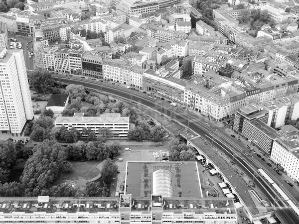Berlim ver cidade Alemanha preto e branco Foto stock © claudiodivizia
