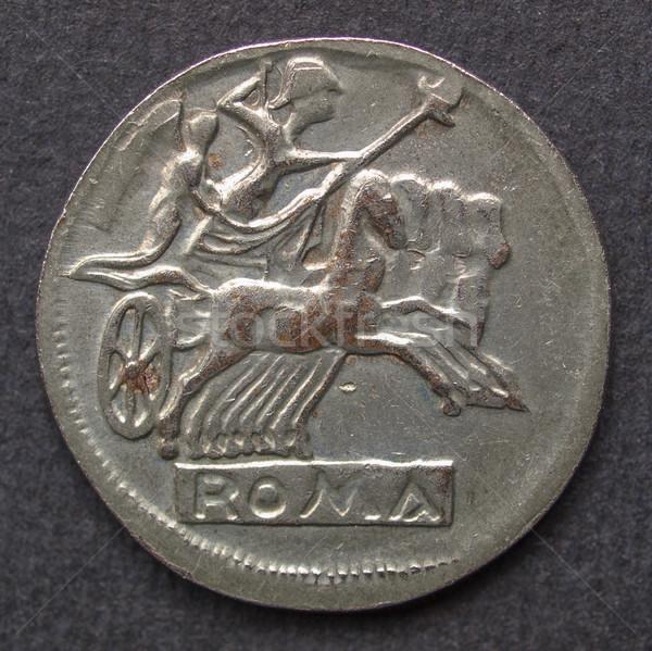 Romano moeda antigo moedas preto Foto stock © claudiodivizia
