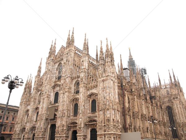 Milaan gothic kathedraal kerk geïsoleerd Stockfoto © claudiodivizia
