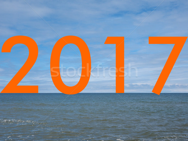 Year 2017 on the beach Stock photo © claudiodivizia
