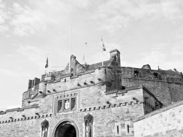 Edinburgh zamek Szkocji wielka brytania Zjednoczone Królestwo budowy Zdjęcia stock © claudiodivizia