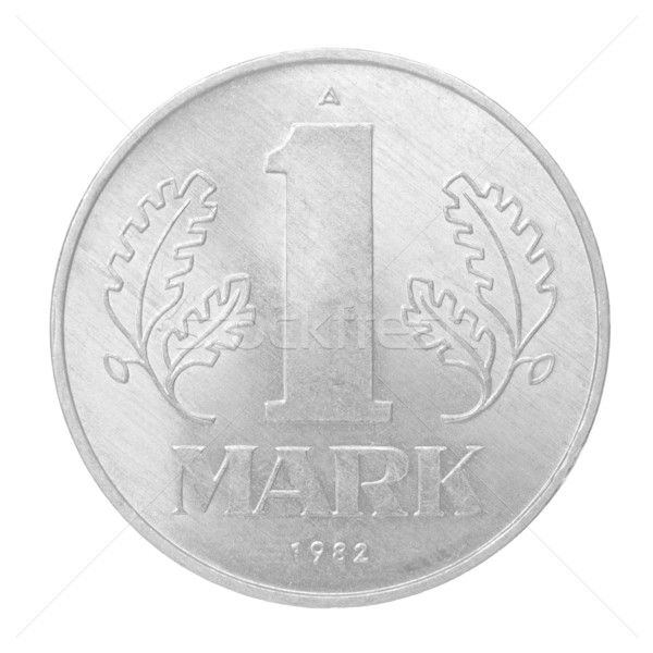 Vintage 1992 DDR coin isolated Stock photo © claudiodivizia