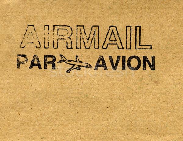 Posta aerea lettera busta timbro Foto d'archivio © claudiodivizia