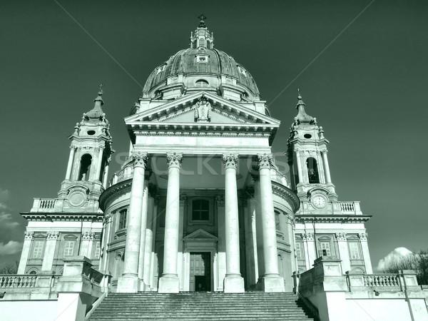 Bazilika Torino templom domb Olaszország magas Stock fotó © claudiodivizia