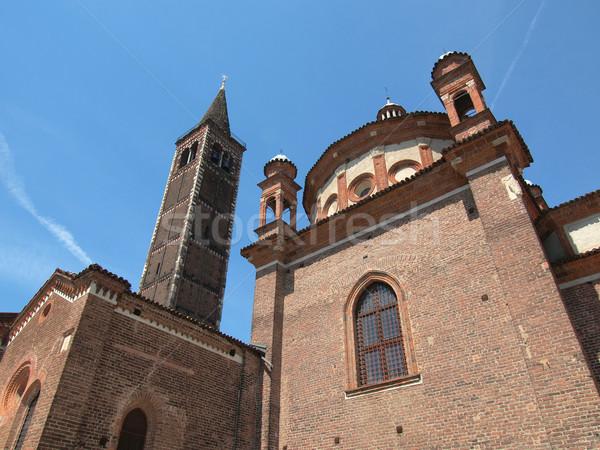 教会 ミラノ バシリカ イタリア ヴィンテージ ヨーロッパ ストックフォト © claudiodivizia