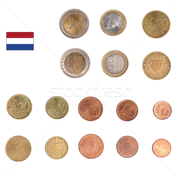 Euro coin - Nederlands Stock photo © claudiodivizia